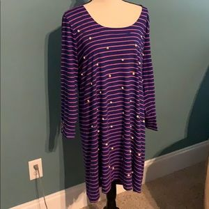 Lily Pulitzer dress blue and pink XL